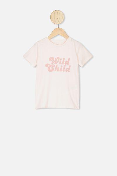 Penelope Short Sleeve Tee, CRYSTAL PINK/WILD CHILD