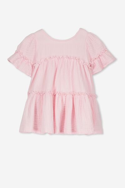 Abby Flutter Dress, BLUSH PINK