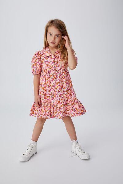 Jamala Short Sleeve Dress, NEWPORT FLORAL