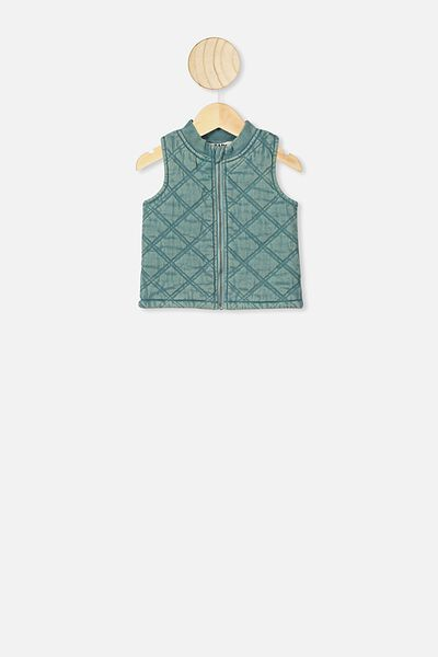 Lewis Quilted Vest, AQUA DREAM