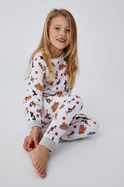 Florence Long Sleeve Pyjama Set Licensed, LCN WB SPACE JAM SQUAD GROUP SHOT WHITE