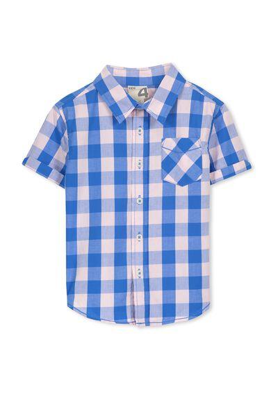 Jackson S/Slv Shirt, PINK/BLUE GINGHAM