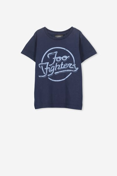 Short Sleeve License Tee, WASHED NAVY/FOO FIGHTERS 2