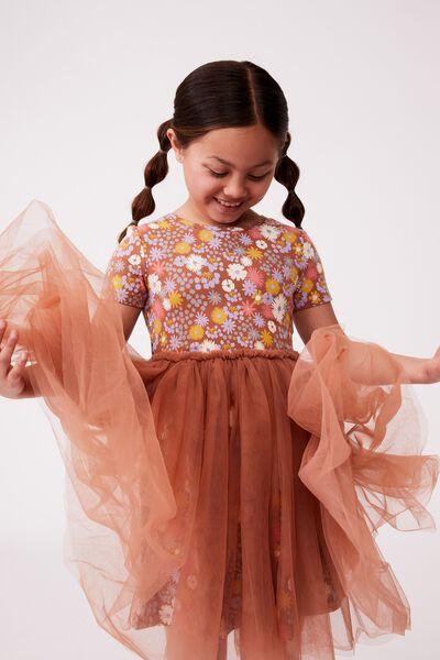Sage & Clare Ivy Dress, LCN SAG HAYFOLK/AMBER BROWN