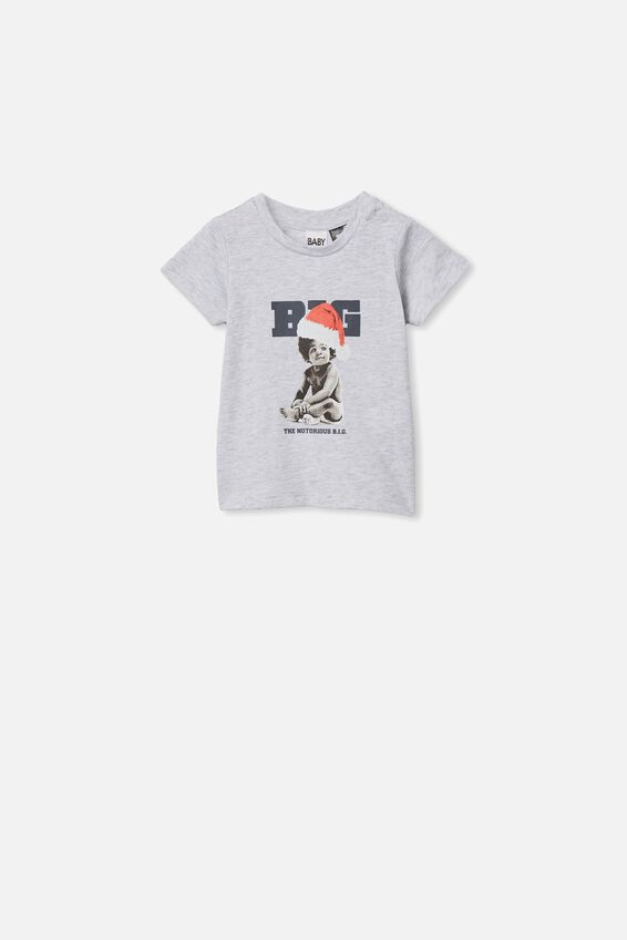 Jamie Short Sleeve Tee, LCN MT CLOUD MARLE/BABY BIGGIE XMAS