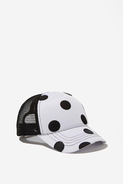 Kids Trucker Cap, WHITE/BLACK SPOTS