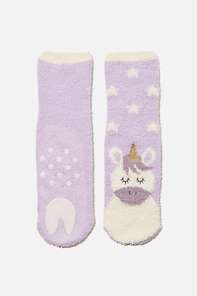 Slipper Sock, UNICORN STARS