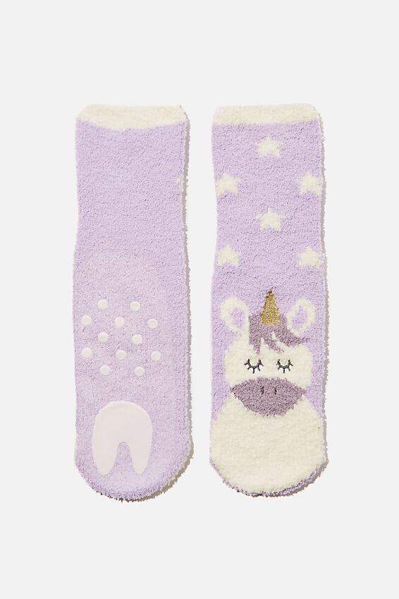 Slipper Sock, UNICORN STARS