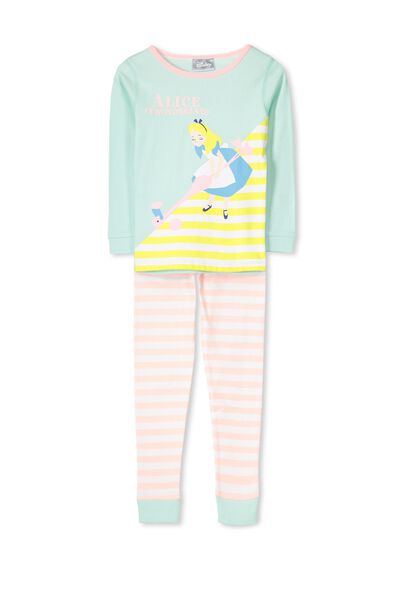 Kristen Long Sleeve Girls PJs, ALICE IN WONDERLAND CROQUET
