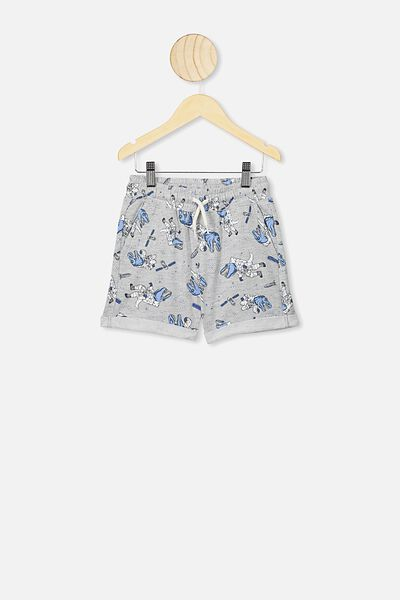Henry Slouch Short, GREY MARLE/SPACE DINO