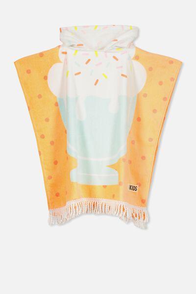 Kids Hooded Towel, SUNDAE