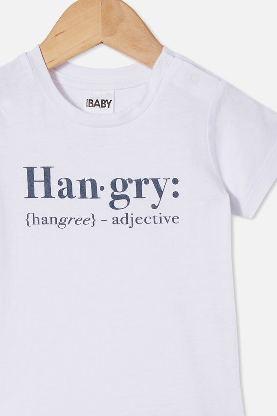 Jamie Short Sleeve Tee, WHITE HANGRY