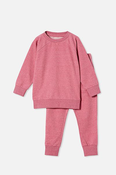 Sadiye Long Sleeve Pyjama Set, SPACE DYE/VERY BERRY
