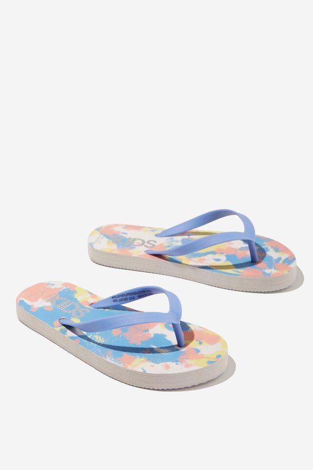 Printed Flip Flop, DUSK BLUE TIE DYE