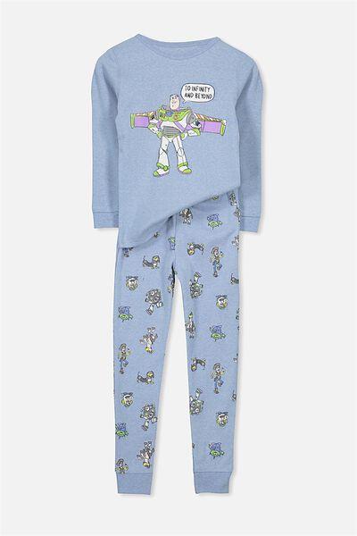 Dan V3 Long Sleeve Boys Pajama Set, BUZZ LIGHTYEAR WINGS