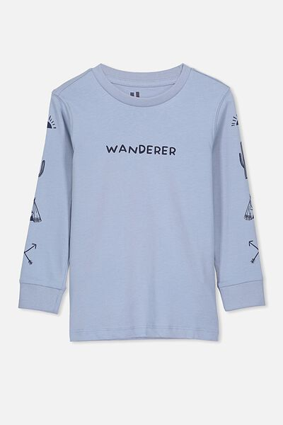 Skater Long Sleeve Tee, DUSTY/WANDERER