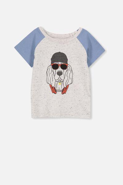 Freddie Ss Tee, SUMMER MARLE/HOUND DOG