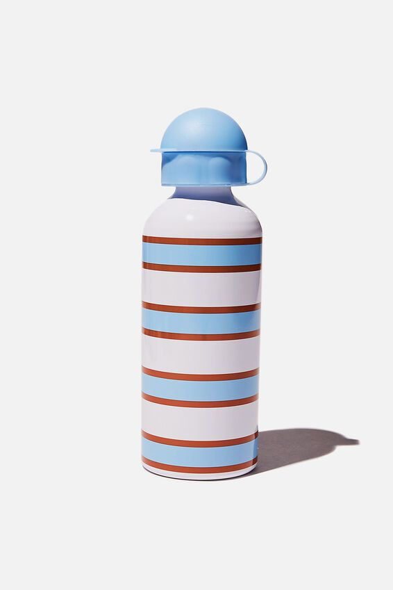Aluminium Drink Bottle, DUSK BLUE STRIPE