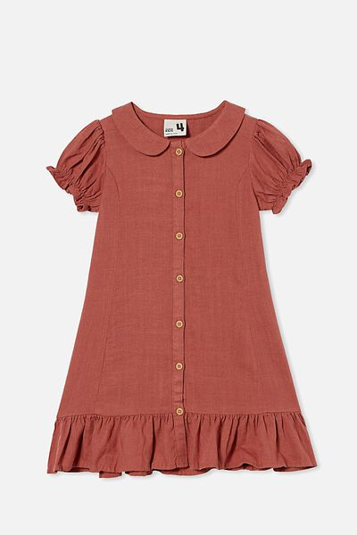 Evelyn Short Sleeve Dress, HENNA