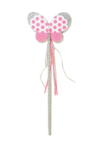 Shooting Stars Wand, SILVERY PINK BUTTERFLY