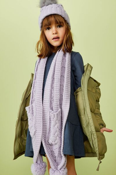 Cozy Pocket Scarf, LILAC