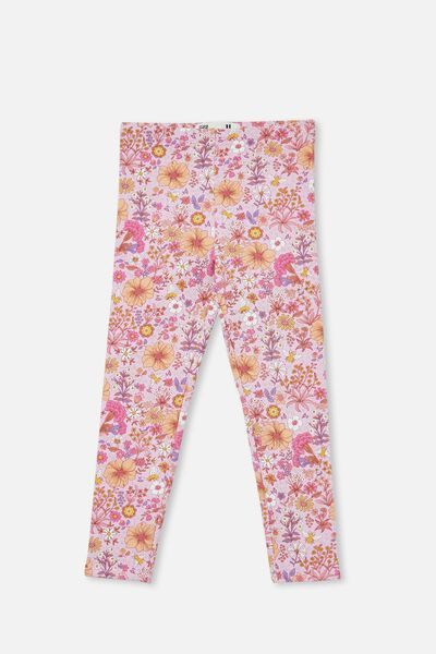 Fleece Legging, PALE VIOLET/BEE GARDEN
