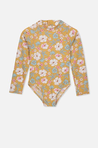 Lydia One Piece, CORNSILK RETRO FLORAL