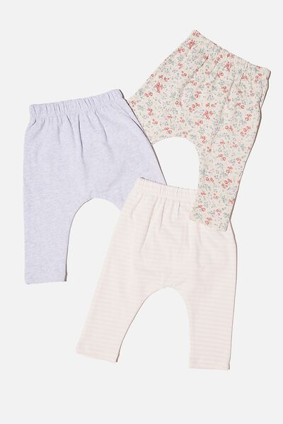 3 Pack Leggings, MAUDE FLORAL/CLOUD MARLE/CRYSTAL PINK STRIPE