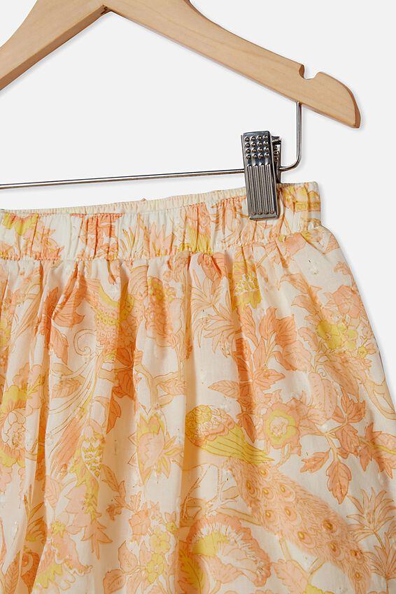 Sully Skirt, VANILLA/GARDEN OF BIRDS
