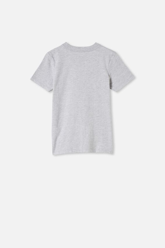 Max Skater Short Sleeve Tee, GREY MARLE/I WISH I WAS A LITTLE BIT TALLER