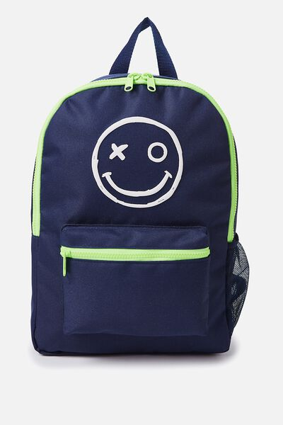 School Backpack, SMILEY FACE