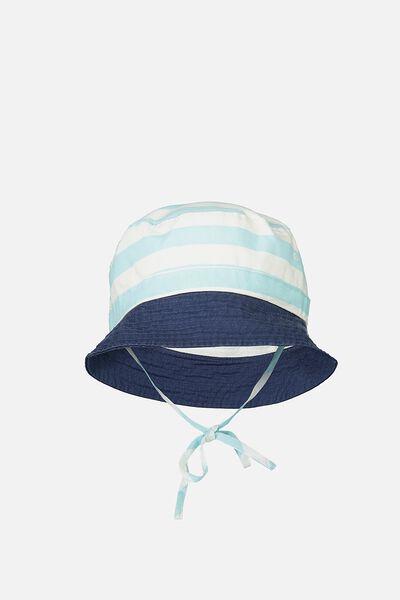 Kids Bucket Hat, COLOUR BLOCK STRIPE