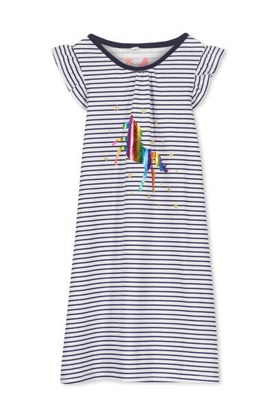 Suzie Flutter Sleeve Nightie, RAINBOW UNICORN