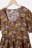 Ladies Meredith Dress, PHANTOM/FLORAL FIELDS