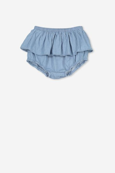 Sadie Ruffle Bloomer, MID CHAMBRAY
