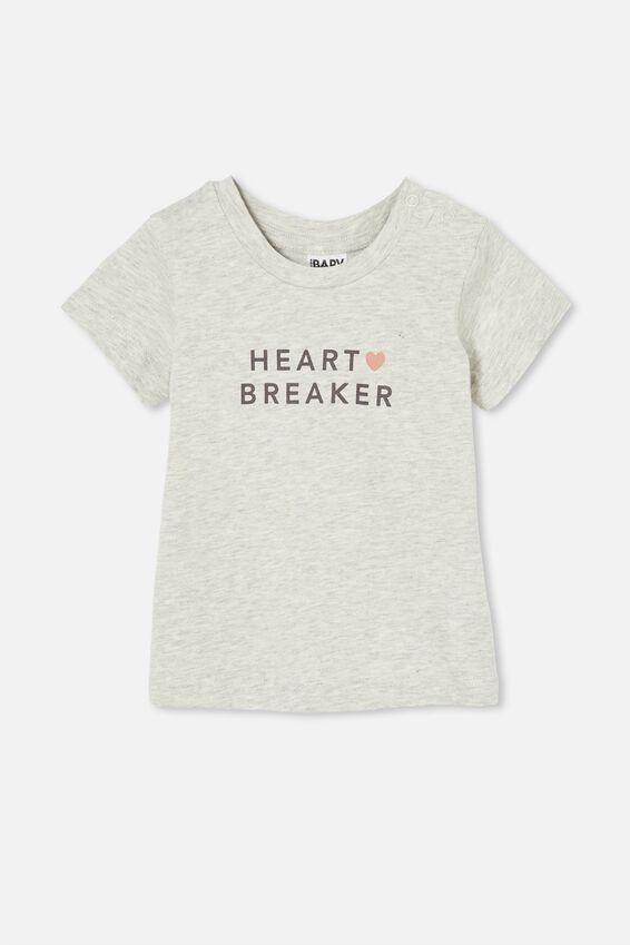 Jamie Short Sleeve Tee, CLOUD MARLE/HEART BREAKER