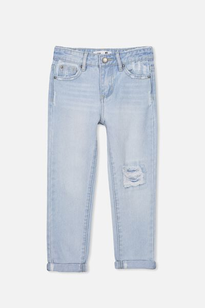 India Slouch Jean, BLEACH WASH