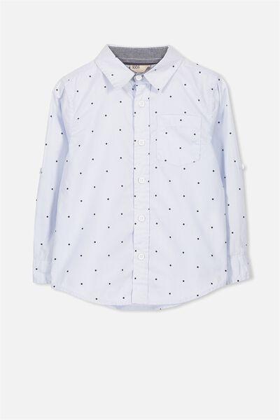 Noah Long Sleeve Shirt, BLUE SPOTS