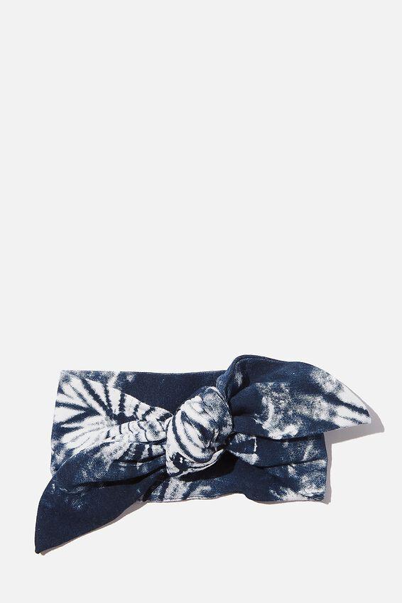 The Tie Headband, NAVY BLAZER/TIE DYE