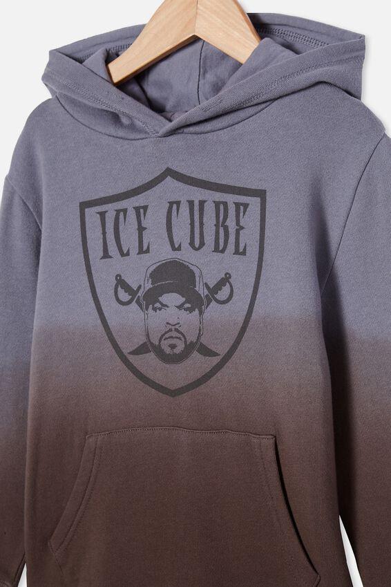 License Hoodie, LCN MT ICE CUBE/STEEL DIP DYE