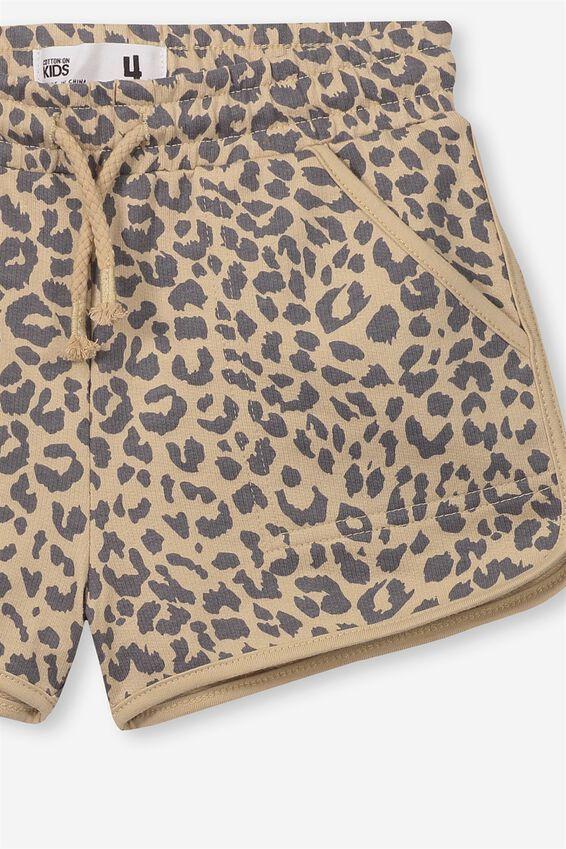 Nina Knit Shorts, SEMOLINA LEOPARD