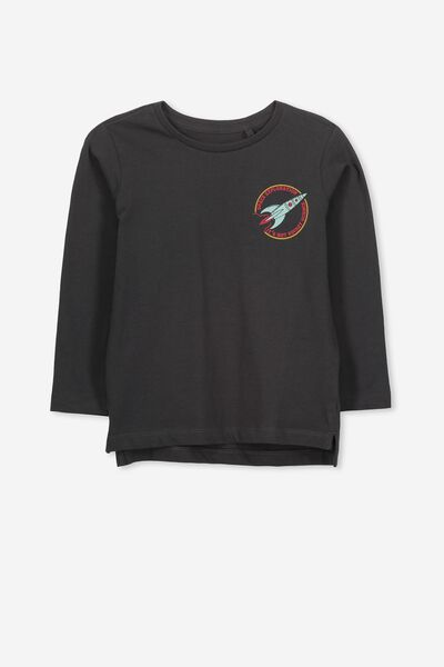 Tom Long Sleeve Tee, GRAPHITE ROCKET SCIENCE/SIS