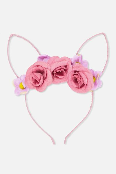 Fashion Headband, CAT EARS/FLORAL