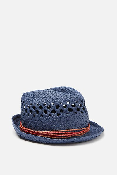 Trilby Hat, BLUE WEAVE