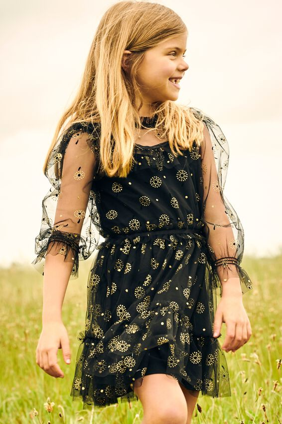 alice McCALL Long Sleeve Dress, BLACK
