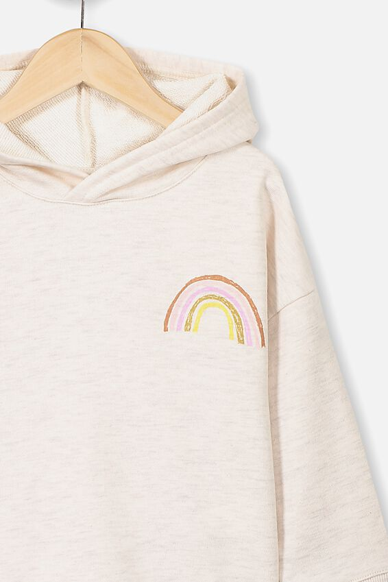 Scarlett Hoodie, BLUSH MARLE/RAINBOW FRONT AND BACK