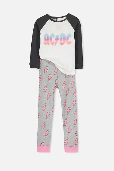 Heidi Girls Long Sleeve PJ Set, AC/DC