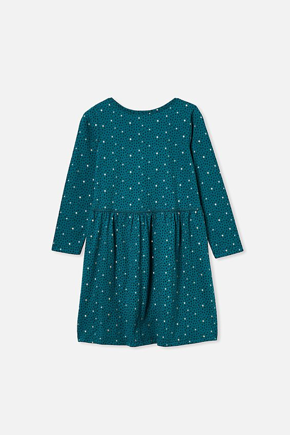 Freya Long Sleeve Dress, JADE JEWEL/DABBY SPOT