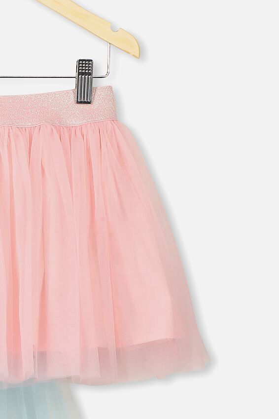 Unicorn Tail Trixibelle Tulle Skirt, BLOSSOM PINK/UNICORN TAIL