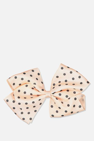 Statement Bows, SILVER PINK SPOT